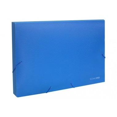 """Папка-бокс пластиковая А4 на резинках Economix, 20 мм, фактура """"бриллиант"""", синяя"""