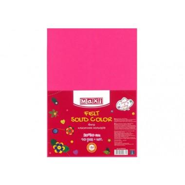 Фетр листовий (поліестер), 20х30см, 180г / м2, рожевий