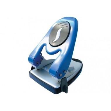 Діркопробивач до 60 л. Economix метал. корпус з лінійкою синій