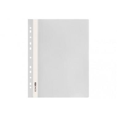 """Папка-скоросшиватель А4 Economix с перфорацией, фактура """"глянец"""", белая E31510-14"""