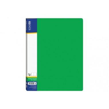 Папка А4 с 40 файлами Economix, зеленая E30604-04