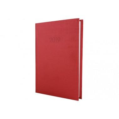 Щоденник датований 2019, Текстиль, червоний, А5