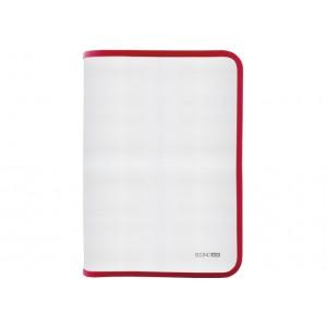 Папка-пенал пластиковая на молнии В5, фактура: ткань, красный