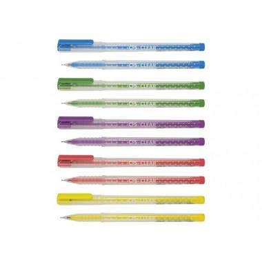 Ручка кулькова Clear, колір чорнил: синій, 0,7 мм, асорті