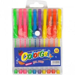 Набір ручок гелевих неонових 10 кольорів