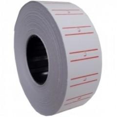 Етикетки-цінники, 21х12 мм Economix, 1000 шт / рул., Білі з червоною смугою E21301-15