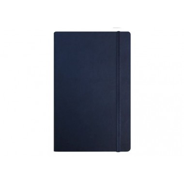 Діловий записник А5, Vivella, тверда обкладинка, білий нелінований блок, темно-синій, з гумкою