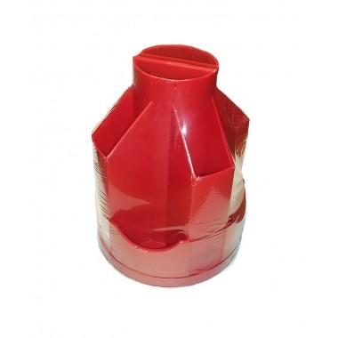 Підставка настільна В21, обертається на 360 °, пластик, червоний