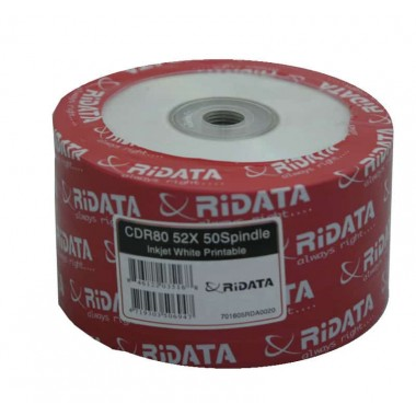 Носители информации RIDATA CD-R 700Mb 52x Bulk 50 pcs Printable (fullface)