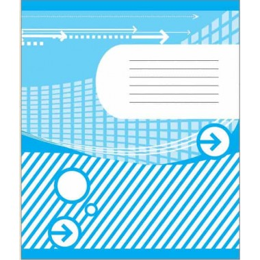 Тетрадь 18 л., линия, двухцветная обложка, офсет