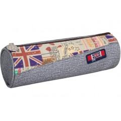 "Пенал мягкий ""England"", серый, тубус CF86645-02"