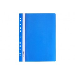 """Папка-скоросшиватель А4 Economix с перфорацией, фактура """"глянец"""", синяя E31510-02"""
