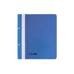 """Папка-скоросшиватель А5 Economix с перфорацией, фактура """"глянец"""", синяя E31506-02"""