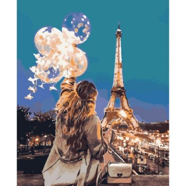 Картина за номерами ідейка Зачароване місто 40 * 50 см пензлі + фарби в комплекті