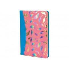 Блокнот з еко-шкіри на магніті, А5, 80 арк., блок - крем. папір, лінія