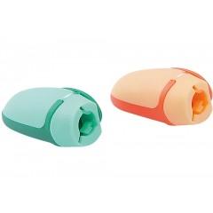 Чинка пластикова Ковпачок, з одним лезом, з бічним кліпом, Economix
