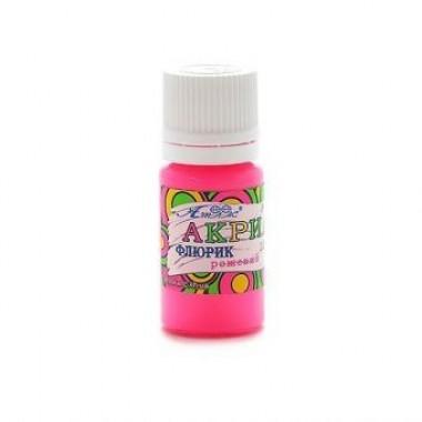 Краска акриловая флуоресцентная 10мл. цвет «Розовый»
