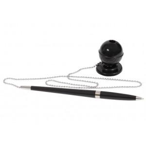 Ручка шариковая на подставке ECONOMIX DESK PEN 0,5 мм. Корпус черный, пишет синим E10128