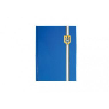 "Блокнот ""Орнамент"", А4, твердая обложка, 96 лист., клетка, синий герб"