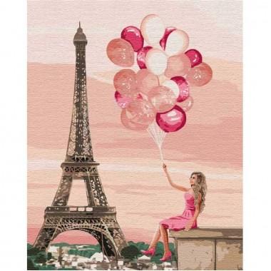 Картина за номерами  Лілові фарби Парижу  40*50см