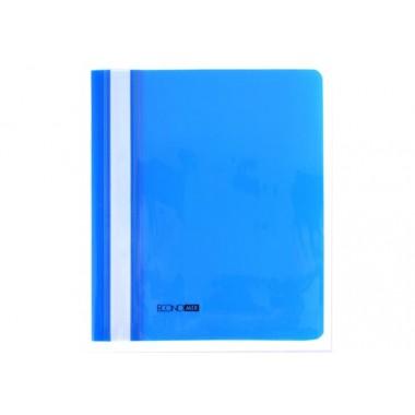 """Папка-скоросшиватель А5 Economix без перфорации, фактура """"глянец"""", синяя E31507-02"""