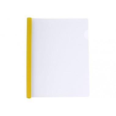 Папка А4 Economix с планкой-зажимом 6 мм (2-35 листов), желтая