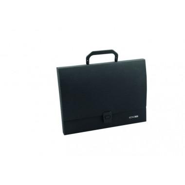 Портфель пластиковий A4 Economix на застібці, 1 відділення, чорний
