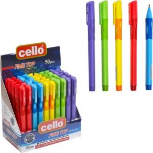 Ручка масляная Fine Top Cello CL1361-50 тренажер правша синяя