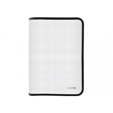 Папка-пенал пластиковая на молнии В5, фактура: ткань, черный