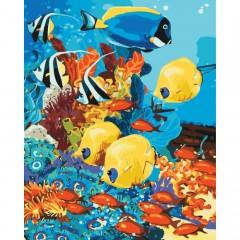 Картина за номерами ідейка Морське царство 40 * 50 см пензлі + фарби в комплекті