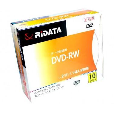 DVD-RW диск Ridata printable 4.7 g 2x