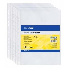 Файл-конверт А4 , 30 мкр.,глянцевий, 100 штук E31106