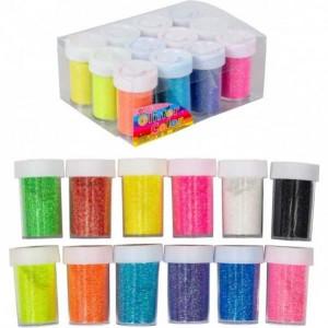 Неоновые блёстки (глиттер) 144г 12 цветов 12шт. в упаковке (цена за 1 шт.)