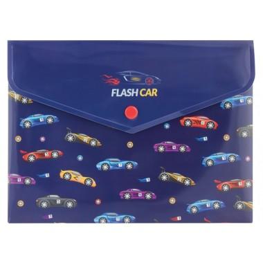 Папка-конверт А5 на кнопке Flash Car, 180 мкм