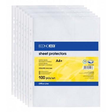 Файл-конверт А4 + , 30 мкр.,глянцевый, 100 штук E31106