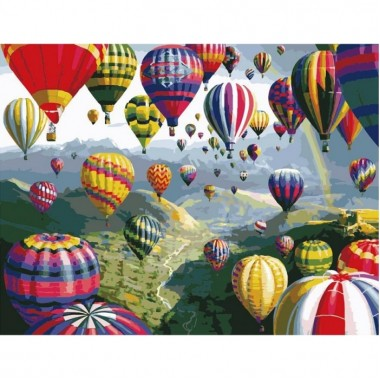 Картина за номерами ідейка Повітряні кулі 40 * 50 см пензлі + фарби в комплекті