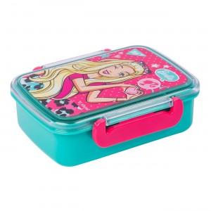 Контейнер для еды YES Barbie, 420мл, с разделителем