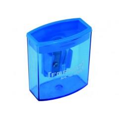 Точилка пластиковая на 1 лезвие с контейнером ассорти