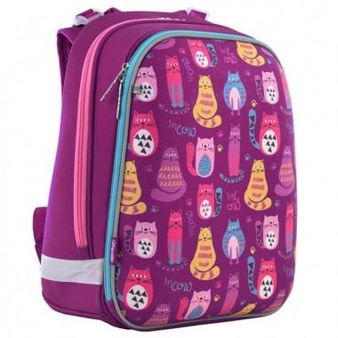 Рюкзак школьный каркасный 1 Вересня H-12 Cute cats