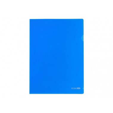 Папка-уголок А4 Economix, 180 мкм, фактура глянец, синяя