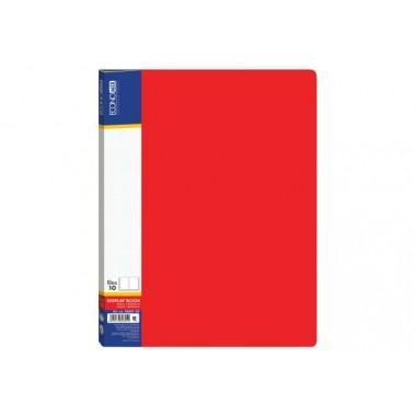 Папка А4 з 20 файлами Economix, червона E30602-03