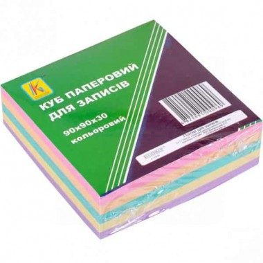 Блок 300 листов 90*90мм цветной Коленкор не клееная