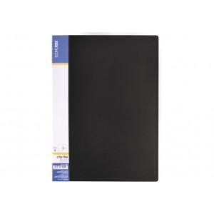 Папка А4 з боковим притиском Economix CLIP В Light, чорна