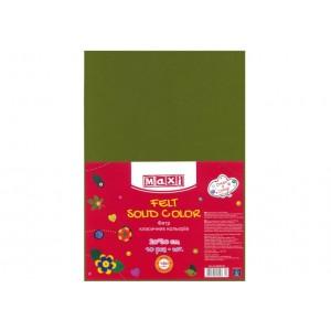 Фетр листовой (полиэстер), 20х30см, 180г / м2, зеленый травянисто