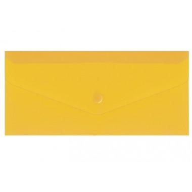 """Евроконверт Е65 прозрачный на кнопке, 180 мкм, фактура """"глянец"""", желтый N31306-05"""
