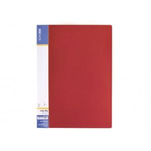 Папка А4 с боковым прижимом Economix CLIP В Light, красная