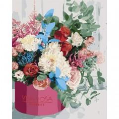 Картина за номерами Вишуканий букет  40*50см пензлі + фарби в комплекті