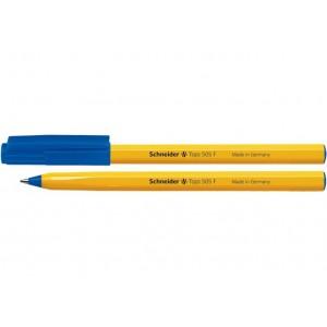 Ручка кулькова SCHNEIDER TOPS 505 F 0,5 мм. Корпус помаранчевий, пише синім