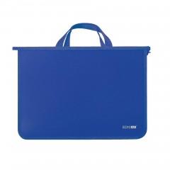 Портфель пластиковый А4 Economix на молнии, 2 отделения, синий