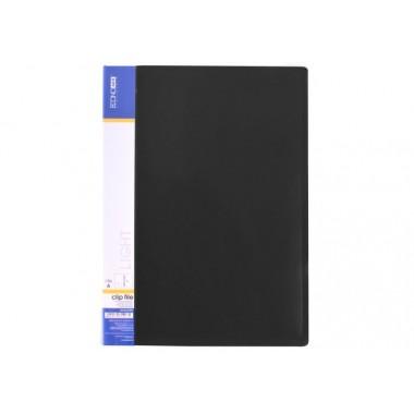 Папка-швидкозшивач А4 з пружинним механізмом Economix CLIP A Light, чорна